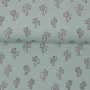 "Jersey ""Cactus"" old-mint/ grau"