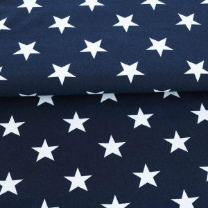 """Jersey """"Sterne"""" marine-blau/ weiß"""
