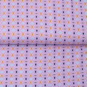 """Jersey """"Parallelogramm"""" flieder"""