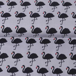 """Jersey """"Flamingo"""" grau/ schwarz"""