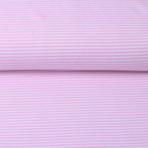 "Jersey ""Ringel"" rosa/ weiß"