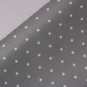"""Beschichtete Baumwolle/ Wachstuch """"Sterne"""" grau"""