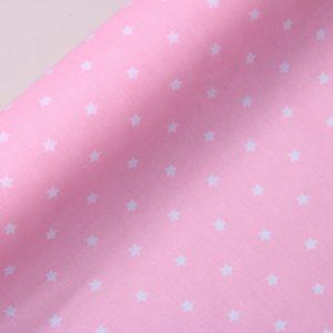 """Beschichtete Baumwolle/ Wachstuch """"kleine Sterne"""" rosa"""