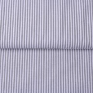 Baumwollstoff gestreift 0,3 mm grau/ weiß