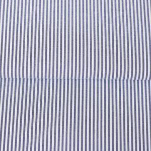 Baumwollstoff gestreift 0,3 mm dunkelblau/ weiß