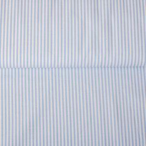 Baumwollstoff gestreift 0,3 mm hellblau/ weiß