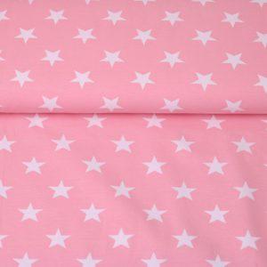"""Jersey """"Sterne"""" rosa/ weiß"""