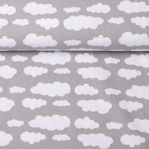 """Jersey """"Wolken"""" stein-grau/ weiß"""