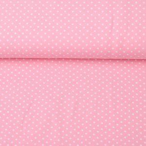 """Jersey """"minidot"""" rosa/ weiß"""