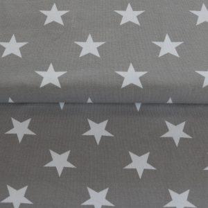 """Jersey """"Sterne"""" stein-grau/ weiß"""