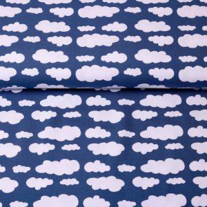 """Jersey """"Wolken"""" marine/ weiß"""