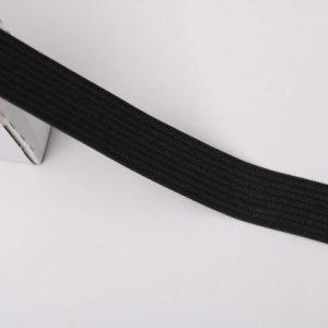 """""""Gummiband/ Gummilitze"""" 20mm breit in schwarz"""