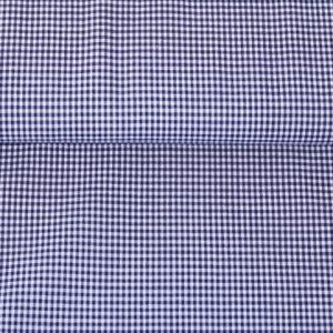 100% Baumwollstoff Vichy-Karo 0,2 mm marine/ weiß