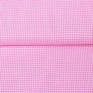 100% Baumwollstoff Vichy-Karo 0,2 mm rosa/ weiß