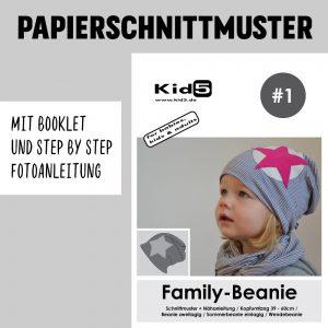 #1PP Papierschnitt Family Beanie + Booklet