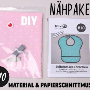 #10 Nähpaket Selberesser-Lätzchen Rosa + Papierschnittmuster