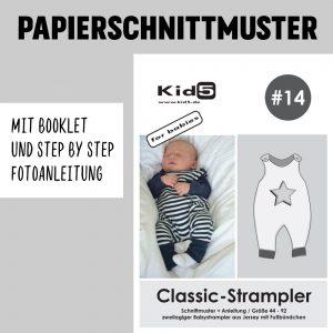 #14PP Papierschnitt Classic-Strampler + Booklet