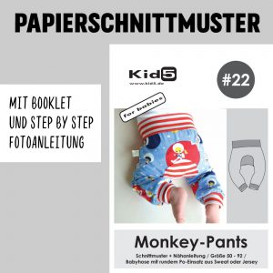 #22PP Papierschnitt Monkey-Pants + Booklet