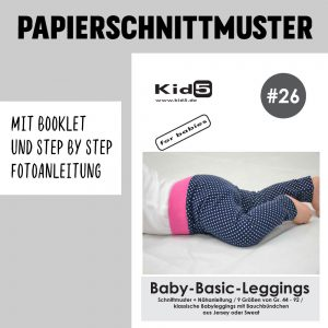 #26PP Papierschnitt Baby-Basic-Leggings + Booklet