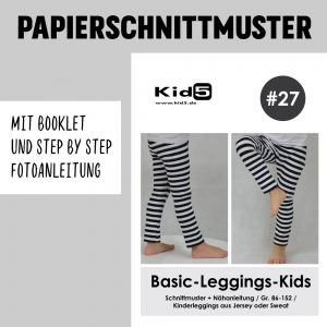 #27PP Papierschnitt Basic-Leggings-Kids + Booklet