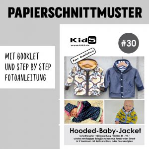 #30PP Papierschnitt Hooded-Baby-Jacket + Booklet