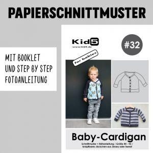 #32PP Papierschnitt Baby-Cardigan + Booklet