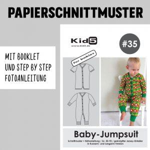 #35PP Papierschnitt Baby-Jumpsuit + Booklet