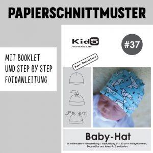 #37PP Papierschnitt Baby-Hat + Booklet