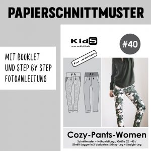 #40PP Papierschnitt Cozy-Pants-Women + Booklet