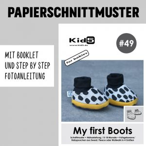 #49PP Papierschnitt My first Boots + Booklet