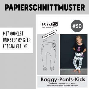 #50PP Papierschnitt Baggy-Pants-Kids + Booklet