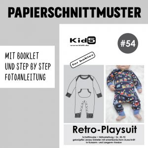 #54PP Papierschnitt Retro-Playsuit + Booklet