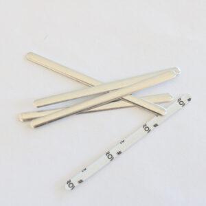 5x Nasenbügel biegbar selbstklebend, Metallbügel für Mundmasken