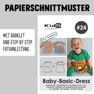 #24PP Papierschnitt Baby-Basic-Dress + Booklet
