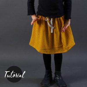 Quick-Skirt aus Musselin nur Videotutorial