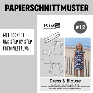 #12PP Papierschnitt Dress and Blouse Girls + Booklet