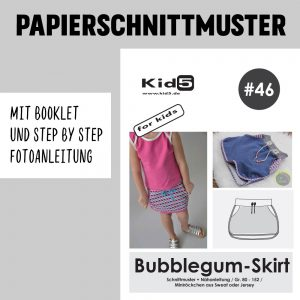 #46PP Papierschnitt Bubblegum-Skirt Girls + Booklet