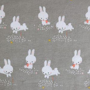 "Jersey ""Binky Bunny"" in grau/ weiß"