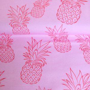 """Jersey """"Ananas"""" rosa/ rot"""