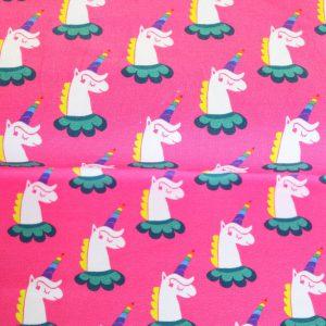 """Restmenge! Jersey """"Rainbow-Unicorn"""" in pink von Jolijou"""