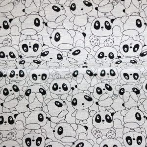 """Sommer-Sweat """"Panda-Parade"""" grau-melange/schwarz"""
