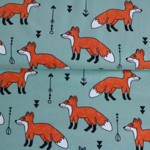 "Jersey ""Fuchs"" mint/ orange"