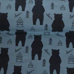 """Jersey """"Bear"""" soft blue/ anthrazit"""