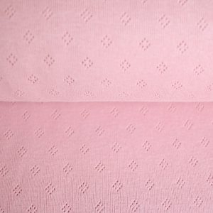 feiner Pointoille Jersey mit Lochmuster in rose