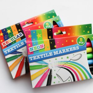 """Set Textilstifte Stoffmalstifte """"Farbe bitte wählen"""" 5 Stück im Set"""