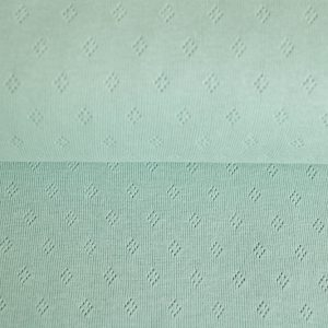 feiner Pointoille Jersey mit Lochmuster in mint