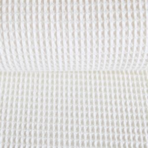Waffel-Piquet 100% Baumwollstoff in ecru