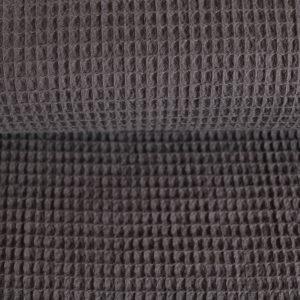 Waffel-Piquet 100% Baumwollstoff in anthrazit
