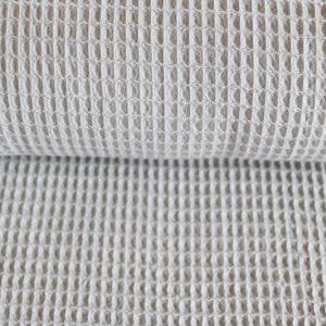 Waffel-Piquet 100% Baumwollstoff in grau
