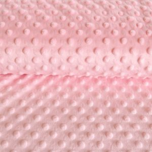 "Kuschel-Fleece ""Minky"" in rosa"